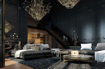 Apartament skąpany w czerni
