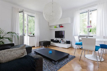Apartament z turkosowymi akcentami 1