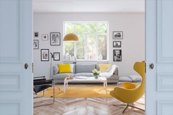 Apartament ze słonecznym akcentem