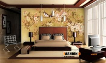 Azjatycki styl na ścianach