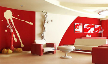 Biało-czerwony wystrój wnętrz. Pokoje, które zachwycą swym kolorem.
