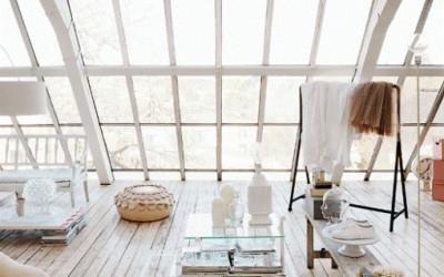 Biały loft w romantycznycm stylu 2