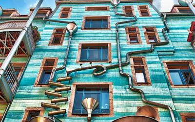 Budynek z trąbą