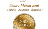 Certyfikat Dobra Marka 2016