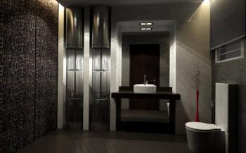 Eleganckie wnętrze- łazienka w odcieniach szarości