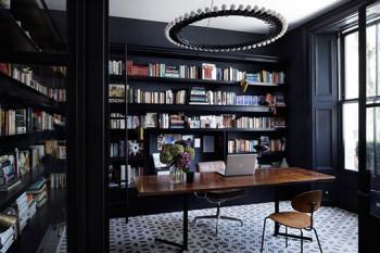 Eleganckie wnętrze w czerni