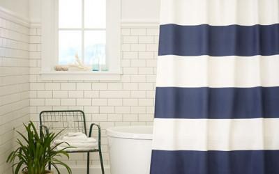 Eleganckie zasłony prysznicowe