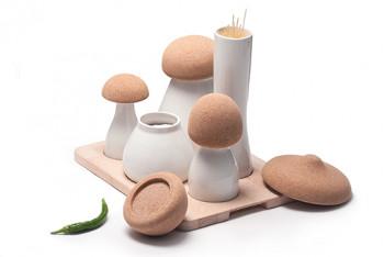 Fantazyjne pojemniki w kształcie grzybów