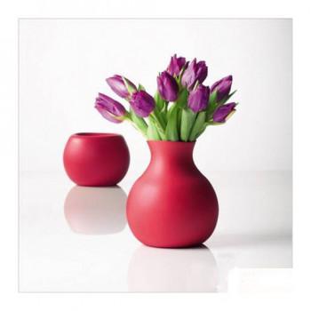 Gumowy wazon duży dwa w jednym czerwony Living Room Menu 1