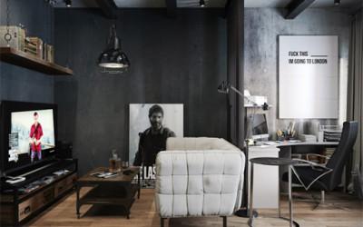 Hipsterski apartament dla fana gier komputerowych