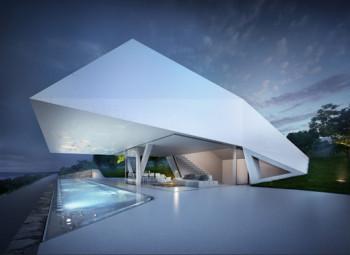 Imponująca, nowoczesna willa wychodząca na grecki archipelag