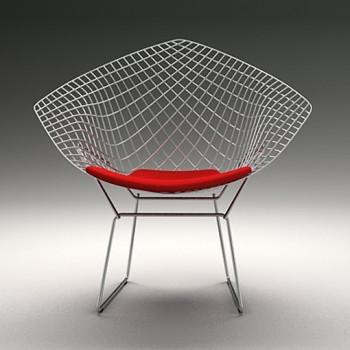 Innowatorskie krzesło ogrodowe Bertoia