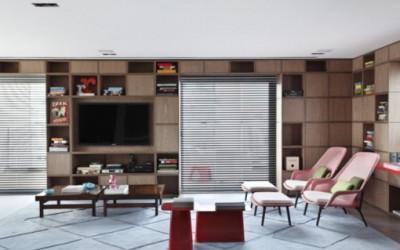 Kolorowy penthouse w industrialnym stylu 4