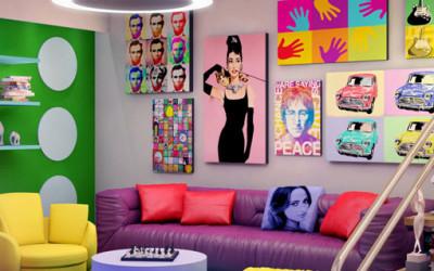 Kolorowy styl pop-art