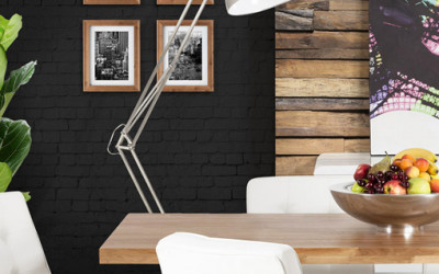 Lampa podłogowa w kształcie lampy biurkowej
