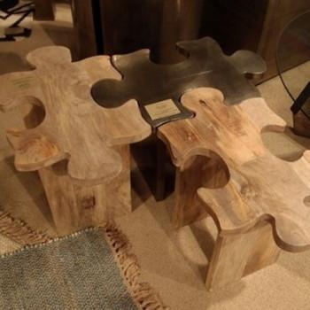 Ława z puzzli