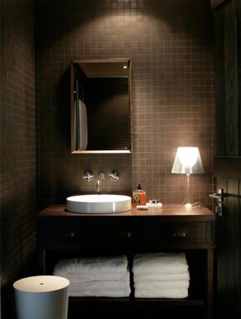 Łazienka w kolorze czekolady!