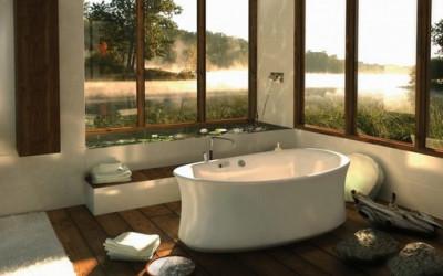 Łazienka z widokiem na…