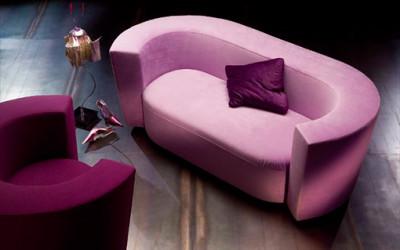 Luksusowa aksamitna sofa