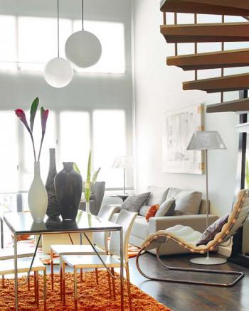 mały loft w żywych kolorach 1