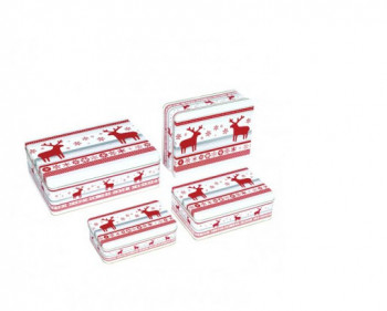 Metalowe pudełka na ciastka 4 szt. Birkmann