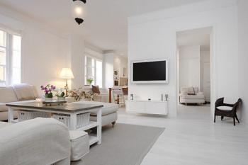 Minimalistyczny apartamanet w bieli 12