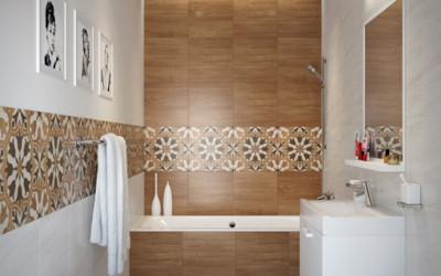 Modne, drewniane łazienki