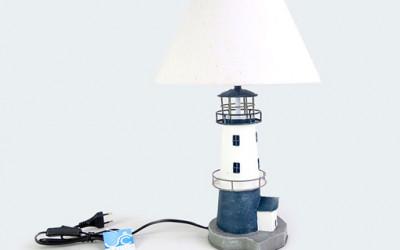 Nadmorska lampa stołowa do przytulnej sypialni