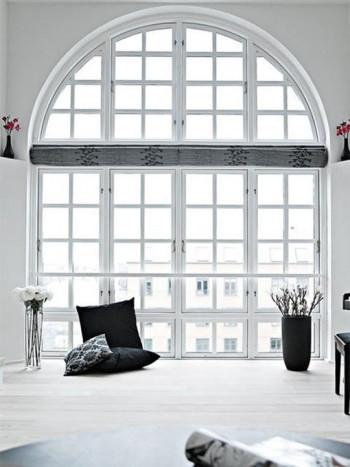 Okna w kształcie łuku