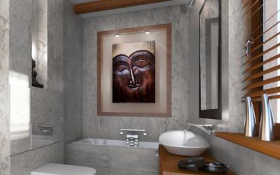 Relaksacyjna łazienka w stylu orientalnym