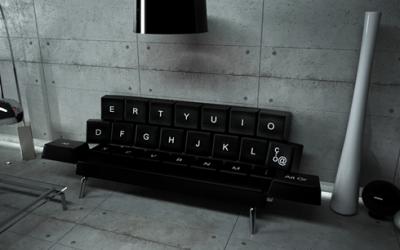 Sofa w kształcie... klawiatury!