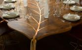 Stół w kształcie liścia