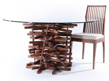 Stolik w stylu Jenga