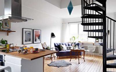 Stylowe dwupoziomowe mieszkanie