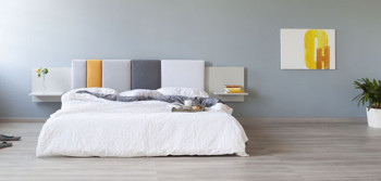 Stylowy zagłówek do łóżka od Formabilio