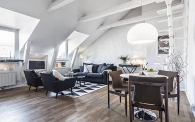 Szwedzki apartament na strychu