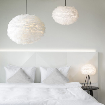 Unikatowa lampa z piór