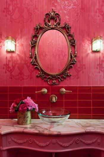 Wnętrze na różowo