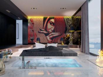 Zachwycająca sypialnia