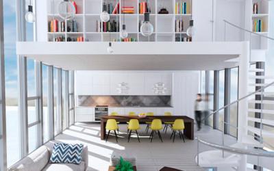 Zachwycający biały loft