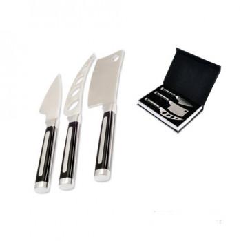 Zestaw noży do serów Legnoart Latte Vivo Metalply