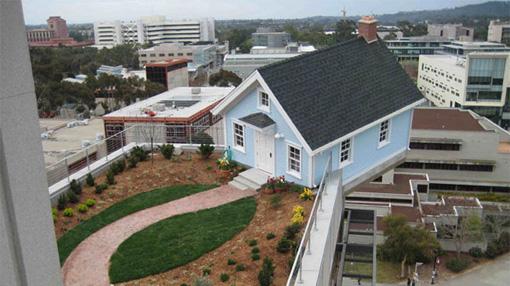 Dom na dachu budynku