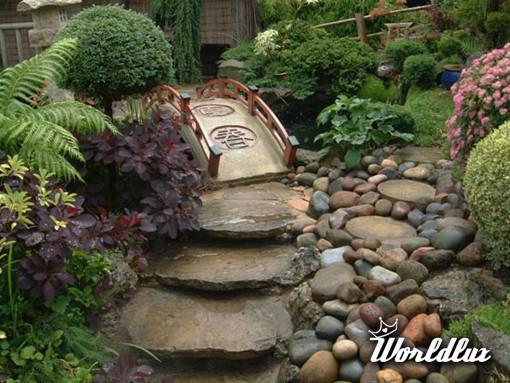 Oryginalne cie ki ogrodowe for Decoracion jardin japones