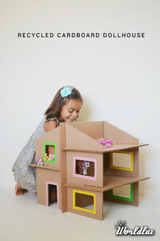 Как сделать дом для кукол из картона