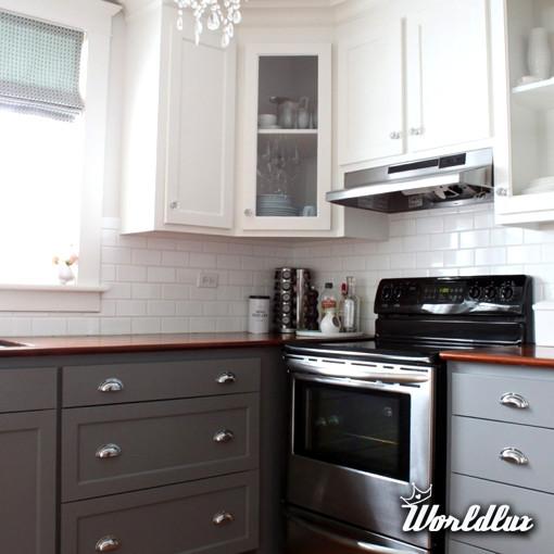 Modna kuchnia  dwukolorowa kuchnia  Kuchnie w kolorze to   -> Kuchnie Lakierowane Dwukolorowe
