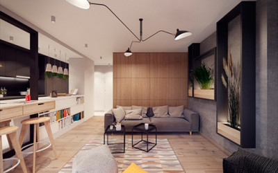 Apartament inspirowany latami 60- tymi