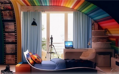 Bajecznie kolorowe pokoje dziecięce