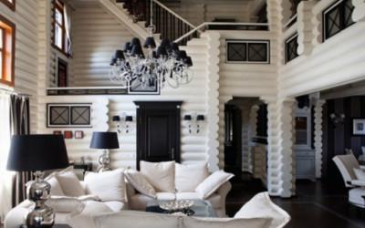 czarno-biały apartament w Moskwie 1