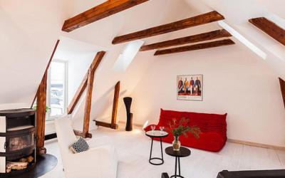 Dwupiętrowy apartament w Sztokholmie