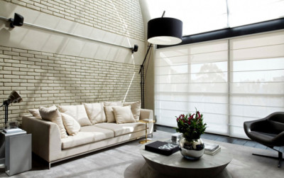 Elegancki industrialny loft